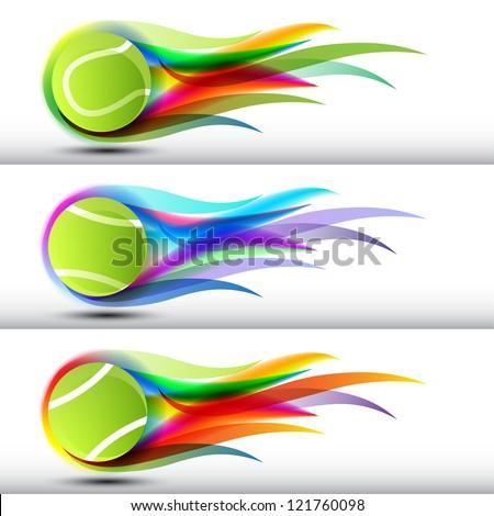 Tennis ball set - stock vector