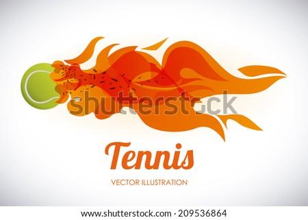 tennis design over tennis background vector illustration - stock vector