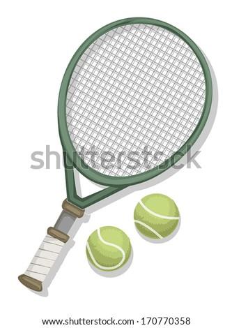 Tennis equipment symbol, vector illustration - stock vector