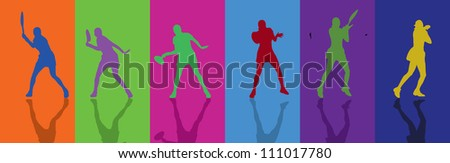 Tennis Forhend - stock vector