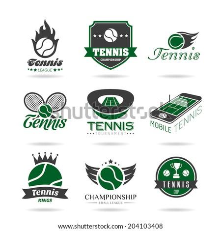Tennis icon set - 2 . - stock vector