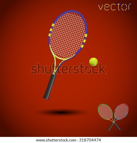 tennis items isolated. Vector illustration. - stock vector