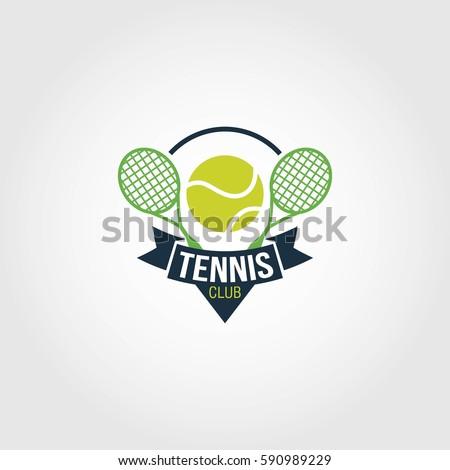 Tennis racket logo
