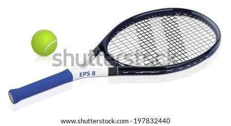Tennis racket - stock vector