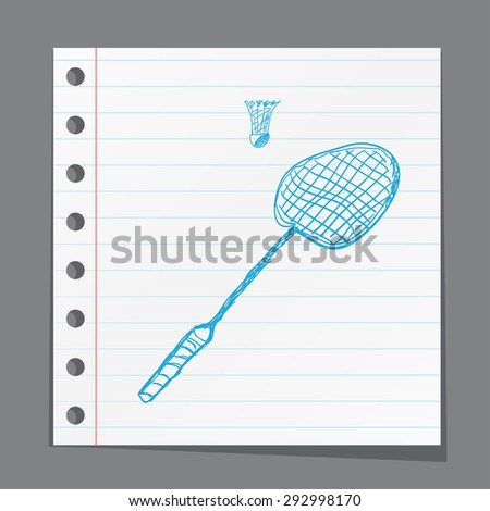 Tennis racket and ball icon