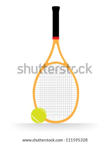 Tennis racket and ball vector - stock vector