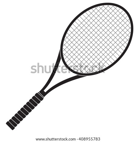 Tennis racket. Vector illustration isolated on white background