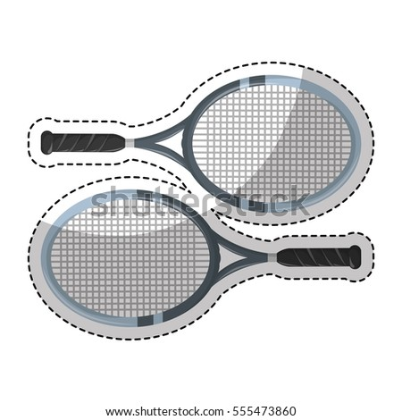 tennis rackets icon over white background. vector illustration