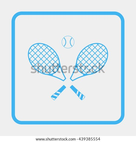 Tennis rackets with ball icon.
