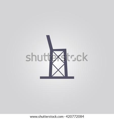 tennis referee chair icon. tennis referee chair. - stock vector
