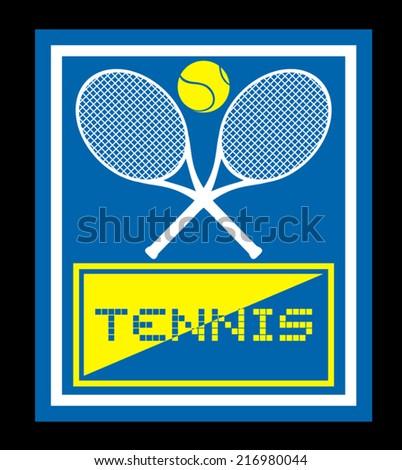 Tennis sign - stock vector