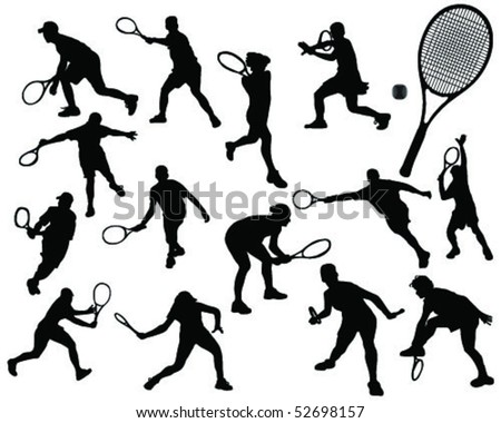 tennis silhouette 5-vector