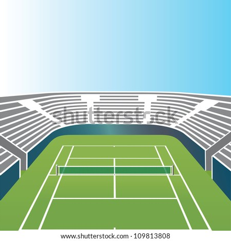 Tennis stadium. - stock vector