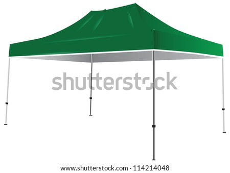 Tent from the weather and sun. Vector illustration. - stock vector