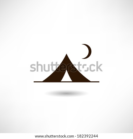 Tent icon - stock vector