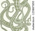 Tentacles pattern - stock photo