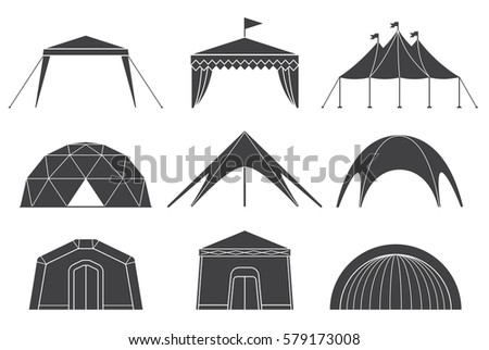 Tents for c&ing in the nature and for outdoor celebrations. Set of various designs of  sc 1 st  Shutterstock & Tent Stock Images Royalty-Free Images u0026 Vectors   Shutterstock