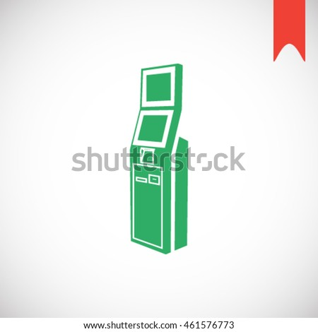 terminal icon stock vector illustration