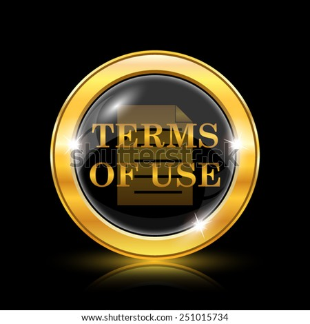 Terms of use icon. Internet button on black background. EPS10 vector  - stock vector