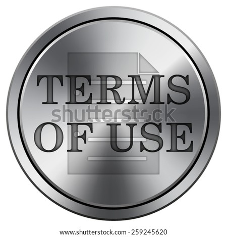Terms of use icon. Internet button on white background. EPS10 Vector.  - stock vector