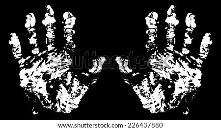 Terrible Hand Trace for your design. EPS10 vector. - stock vector