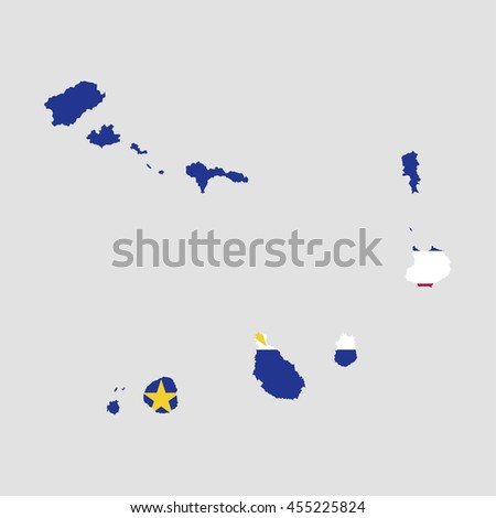 Territory and flag of Cape Verde - stock vector