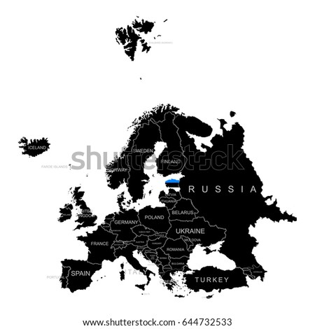 Estonia Blank Map Stock Images RoyaltyFree Images Vectors - Estonia from the us map
