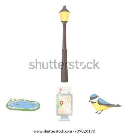 Territory Plan Bird Lake Lighting Pole Stock Vector 709020190