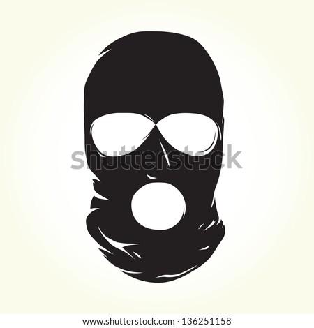 Terrorist mask isolated vector - stock vector