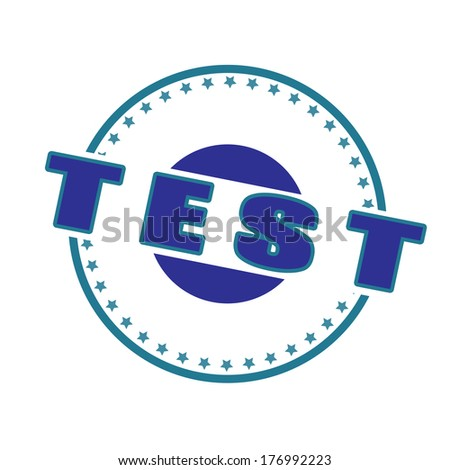 test stamp whit on vector illustration