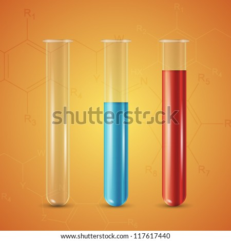 Test tube - stock vector