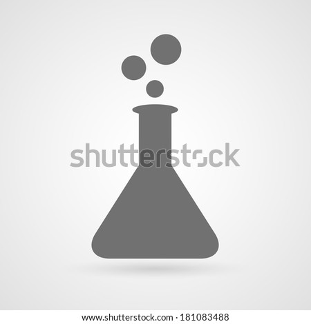 Test tube icon - stock vector