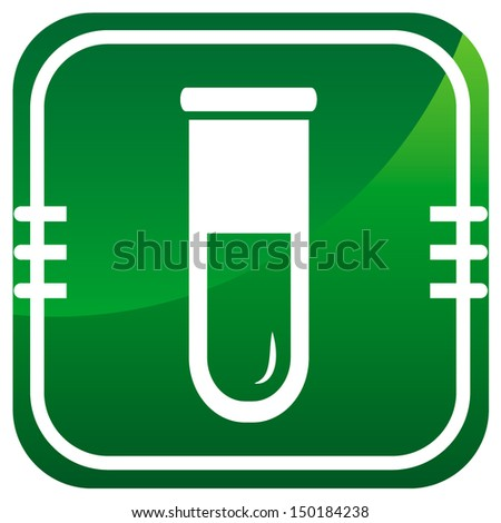 Test tube icon. Biochemistry and microbiology equipment.  - stock vector