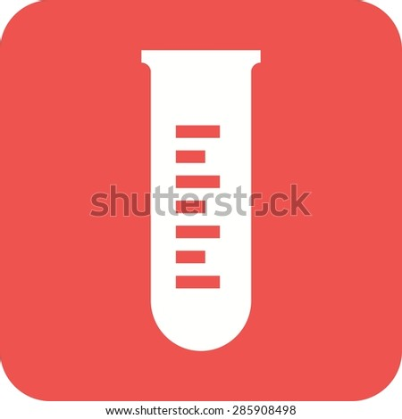 Test tube, lab, tube icon vector image. Can also be used for healthcare and medical. Suitable for mobile apps, web apps and print media.