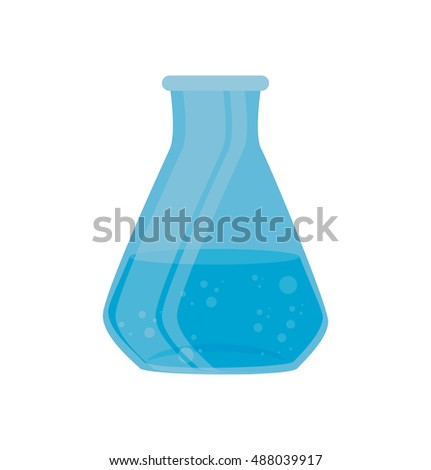 test tube laboratory chemistry graphic isolated