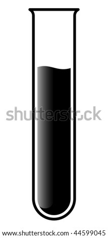 test tube with liquid for research - stock vector