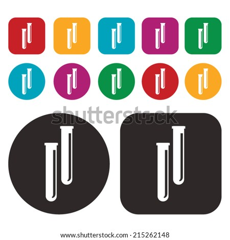 Test tubes icon - stock vector