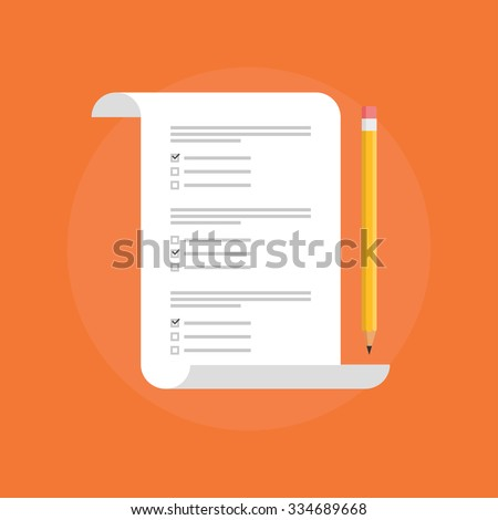 Test vector icon. Test logo isolated. Concept exam, survey, testing. Test icon on flat style. School test. School exam. Testing symbol. Test mark on a colored background. Test symbol. Test sign.  - stock vector