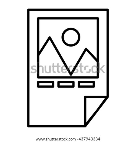 Tested ink paper with printer marks icon - stock vector