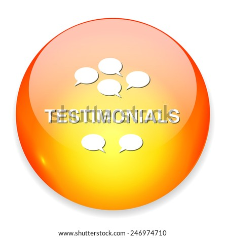 testimonials icon - stock vector