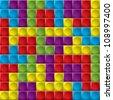 Tetris board background - stock vector