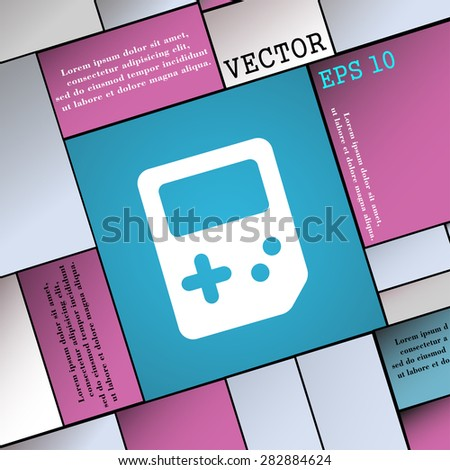 Tetris  icon sign. Modern flat style for your design. Vector illustration - stock vector
