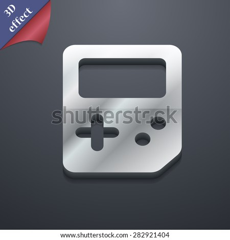 Tetris  icon symbol. 3D style. Trendy, modern design with space for your text Vector illustration - stock vector