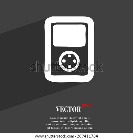 Tetris, video game console icon symbol Flat modern web design with long shadow and space for your text. Vector illustration - stock vector