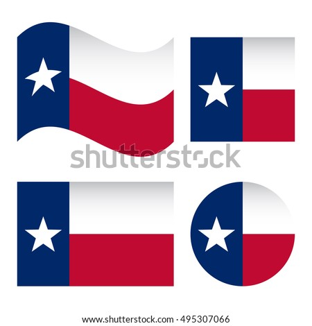 texas flag different shapes set isolated stock vector 495307066 rh shutterstock com waving texas flag vector texas flag vector art