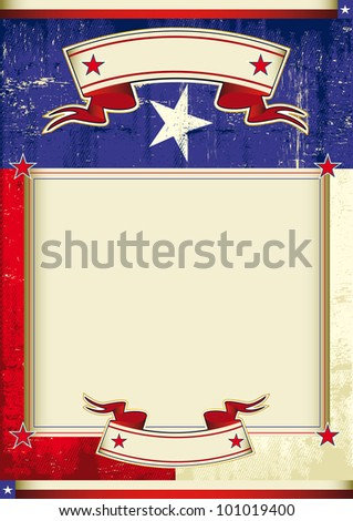 Texas frame background. A poster with a texas flag and a large empty frame for your message.