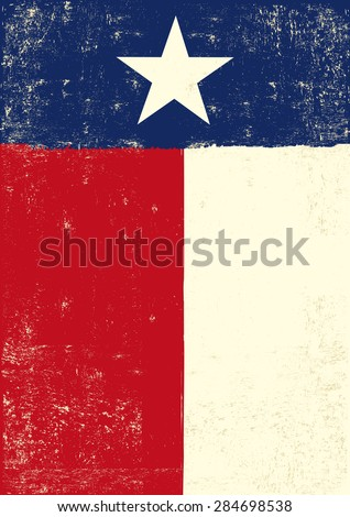 Texas grunge poster. A texan grunge poster for you. - stock vector