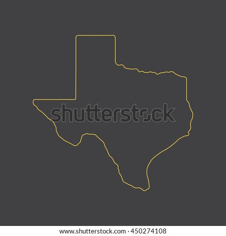 Texas map,outline,stroke,line style