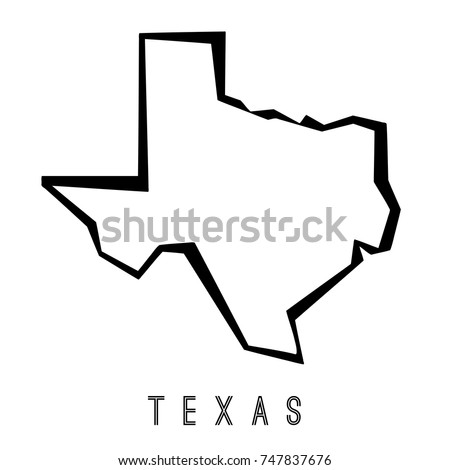 texas map outline us state shape stock vector 747837676 shutterstock rh shutterstock com texas outline vector art texas state outline vector