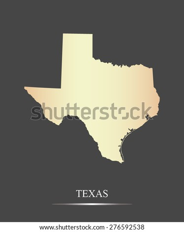 Texas map outlines in an abstract grey background, a black and white vector map of State of Oregon in USA - stock vector